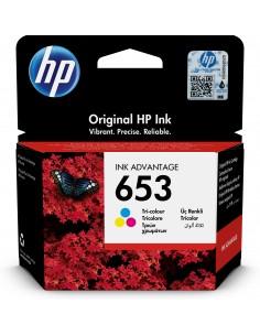 HP Cartuş de cerneală original 653 Ink Advantage tricolor Alkuperäinen Syaani, Magenta, Keltainen 1 kpl Hp 3YM74AE#BHK - 1