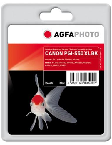 AgfaPhoto APCPGI550XLB mustekasetti Musta 1 kpl Agfaphoto APCPGI550XLB - 1