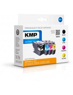 KMP 1537.4005 mustekasetti Yhteensopiva Musta, Syaani, Magenta, Keltainen 4 kpl Kmp Creative Lifestyle Products 1537,4005 - 1