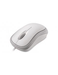 Microsoft Basic Optical Mouse for Business USB Optinen 800DPI Molempikätinen Valkoinen hiiri Microsoft 4YH-00008 - 1