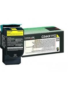 Lexmark C544, X544 Yellow Extra High Yield Return Programme Toner Cartridge (4K) Original Lexmark C544X1YG - 1