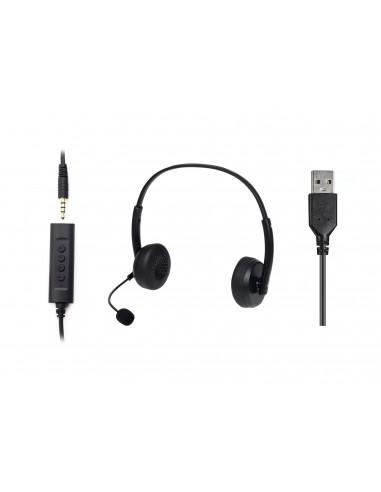 Sandberg 126-21 hörlur och headset Hörlurar Huvudband 3.5 mm kontakt Svart Sandberg 126-21 - 1