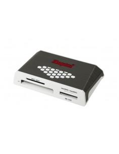 Kingston Technology USB 3.0 High-Speed Media Reader kortinlukija 3.2 Gen 1 (3.1 1) Harmaa, Valkoinen Kingston FCR-HS4 - 1
