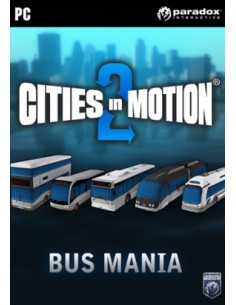 Paradox Interactive Cities in Motion 2: Bus Mania, PC/Mac/Linux Videopelin ladattava sisältö (DLC) Englanti Paradox Interactive