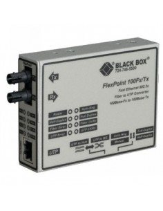 Black Box Blackbox Flexpoint 100mbps Modular Media Converters - Black Box LMC213AE-MMST-R2 - 1