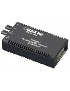 Black Box Blackbox Mic 10-100 Converter Managed - (1) 10/100 Mbps Black Box LMM102A-R2 - 1