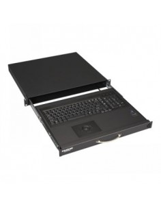 "Black Box Blackbox 19"" Short Depth Keyboard Drawer With Trackball Black Box RM418-CH-R4 - 1"