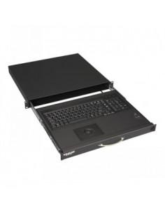 "Black Box Blackbox 19"" Short Depth Keyboard Drawer With Trackball Black Box RM418-FR-R4 - 1"