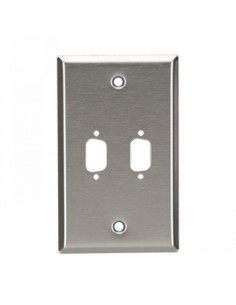 Black Box Blackbox Db9 Stainless Steel Single-width Wallplate (2) Black Box WP071 - 1