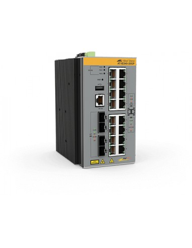 Allied Telesis AT-IE340-20GP-80 Managed L3 Gigabit Ethernet (10/100/1000) Power over (PoE) Grey Allied Telesis AT-IE340-20GP-80