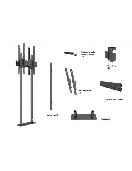 "Multibrackets M Dual Pole Floormount Pro B2B 65""-90"" Multibrackets 7350073738977 - 6"