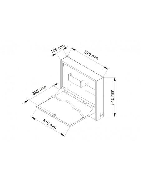 Multibrackets 0419 tietokoneen suojakotelo Valkoinen Terästä 1 kpl Multibrackets 7350105210419 - 13