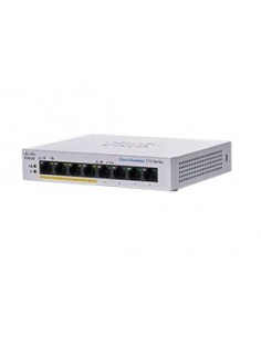 Cisco CBS110-8PP-D Hallitsematon L2 Gigabit Ethernet (10/100/1000) Power over -tuki Harmaa Cisco CBS110-8PP-D-EU - 1