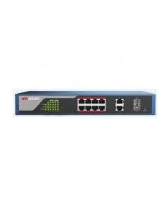 Hikvision Digital Technology DS-3E1310P-E verkkokytkin Hallittu L2 Fast Ethernet (10/100) Power over -tuki Musta Hikvision DS-3E