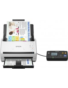 Epson WorkForce DS-530N Sheet-fed scanner 600 x DPI A3 White Epson B11B226401BT - 1