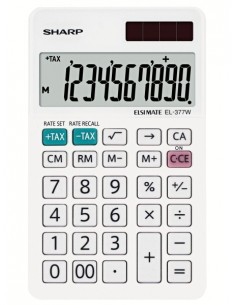 Sharp EL-377W laskin Työpöytä Talouslaskin Valkoinen Sharp SH-EL377W - 1