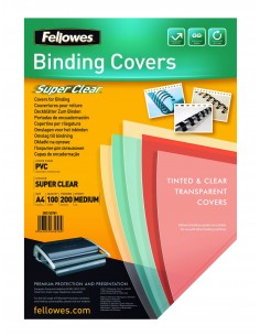 Fellowes 5376001 sidontakansi A4 PVC-muovi Läpinäkyvä 100 kpl Fellowes 5376001 - 1