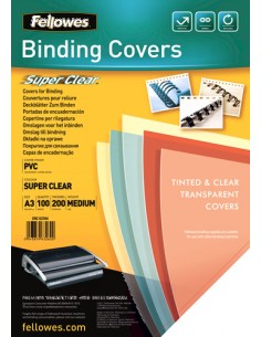 Fellowes 53764 binding cover A3 PVC Transparent 100 pc(s) Fellowes 53764 - 1