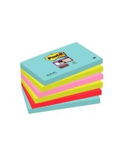 3M 655-6SS-MIA självhäftande anteckningsblock Rektangel Blå, Rosa, Röd, Gul 3m 7100095122 - 1