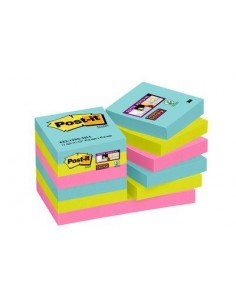 3M 622-12SS-MIA self-adhesive note paper Square Blue, Pink, Yellow 3m 7100097756 - 1