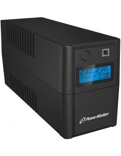 PowerWalker VI 650SE LCD/IEC Linjainteraktiivinen 650 VA 360 W 4 AC-pistorasia(a) Bluewalker 10120091 - 1