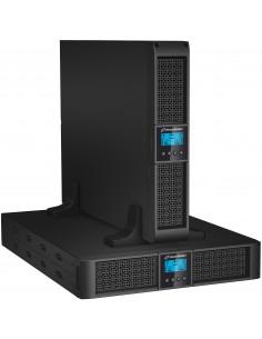 PowerWalker VFI 3000RT LCD Taajuuden kaksoismuunnos (verkossa) 3000 VA 2700 W 9 AC-pistorasia(a) Bluewalker 10120123 - 1
