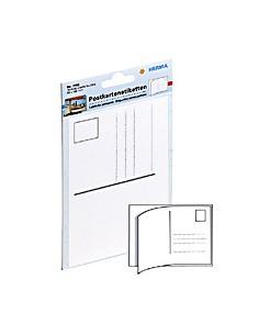 HERMA Post card labels 95x145mm white 10 pcs. liimaetiketti kpl Herma 7758 - 1