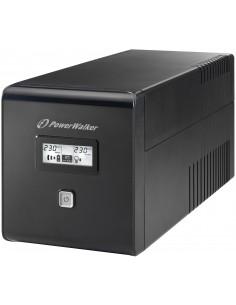 PowerWalker VI 1000 LCD UPS-virtalähde VA 600 W 4 AC-pistorasia(a) Bluewalker 10120018 - 1