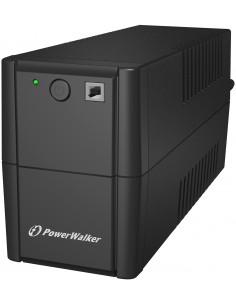 PowerWalker VI 650 SE Linjainteraktiivinen VA 360 W 2 AC-pistorasia(a) Bluewalker 10120048 - 1