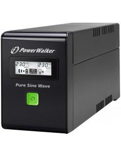 PowerWalker VI 800 SW UPS-virtalähde Linjainteraktiivinen VA 480 W 2 AC-pistorasia(a) Bluewalker 10120080 - 1