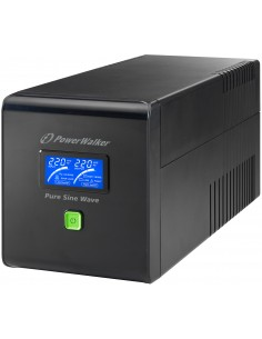 PowerWalker VI 750 PSW/Schuko UPS-virtalähde Linjainteraktiivinen VA 480 W 4 AC-pistorasia(a) Bluewalker 10120081 - 1