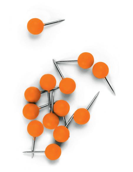 Nobo 1905329 paperitavaranuppineula Oranssi 100 kpl Nobo 1905329 - 2