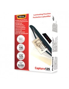 Fellowes Glossy 125 Micron Card Laminating Pouch - 54x86mm Fellowes 5306302 - 1