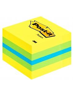 3M Post-it 2051L itseliimautuva muistilappu Neliö Sininen, Vihreä, Turkoosi, Keltainen 400 arkkia 3m 7000080736 - 1