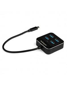 StarTech.com HB31C4AB keskitin USB 3.2 Gen 2 (3.1 2) Type-C 10000 Mbit/s Musta Startech HB31C4AB - 1