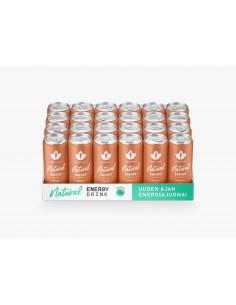 Natural Energy Drink - Persikka 24 x 330ml pullo Puhdistamo NEDPE330X24 - 1