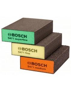 Bosch 2 608 621 253 käsikäyttöinen hiontaväline Hiomasieni Keskikoko/Hieno karkeus 3 kpl Bosch 2608621253 - 1