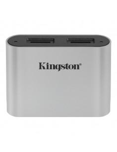 Kingston Technology Workflow microSD Reader kortinlukija USB 3.2 Gen 1 (3.1 1) Type-C Musta, Hopea Kingston WFS-SDC - 1