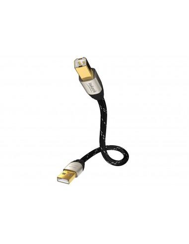 Inakustik 00670001 USB-kaapeli 1 m USB 2.0 A B Musta In - Akustik 00670001 - 1