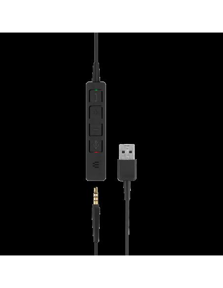 EPOS   Sennheiser ADAPT SC 135 USB Kuulokkeet Pääpanta 3.5 mm liitin A-tyyppi Musta Sennheiser 508316 - 5