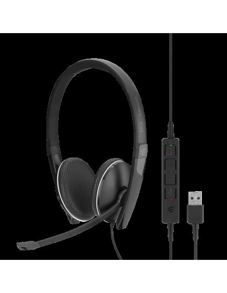 EPOS | Sennheiser ADAPT SC 165 USB Kuulokkeet Pääpanta 3.5 mm liitin A-tyyppi Musta Sennheiser 508317 - 8