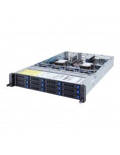 Gigabyte R281-3C1 Intel® C621 LGA 3647 (Socket P) Teline ( 2U ) Musta, Harmaa Gigabyte 6NR2813C1MR-00 - 1