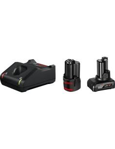 Bosch 1 x GBA 12V 2.0Ah + 4.0Ah GAL 12V-40 Professional Hushållsbatteri AC Bosch 1600A01NC9 - 1