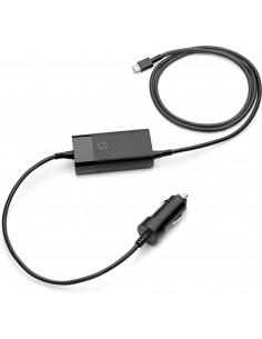 HP 65W USB-C Auto Adapter virta-adapteri ja vaihtosuuntaaja Musta Hp 5TQ76AA - 1