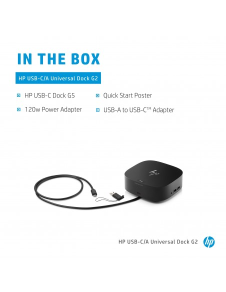 HP Universal Dock G2 Wired USB 3.2 Gen 1 (3.1 1) Type-C Black Hp 5TW13AA#ABU - 20