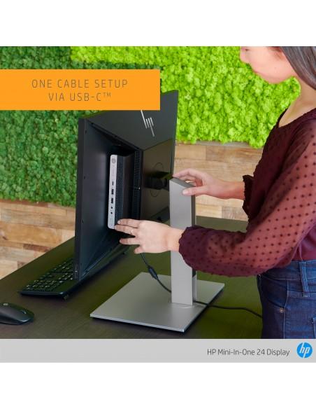 """HP Mini-in-One 24 60.5 cm (23.8"""") 1920 x 1080 pixlar Full HD LED Svart Hp 7AX23AA#ABB - 7"""