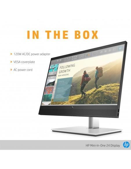 """HP Mini-in-One 24 60.5 cm (23.8"""") 1920 x 1080 pixels Full HD LED Black Hp 7AX23AA#ABB - 10"""