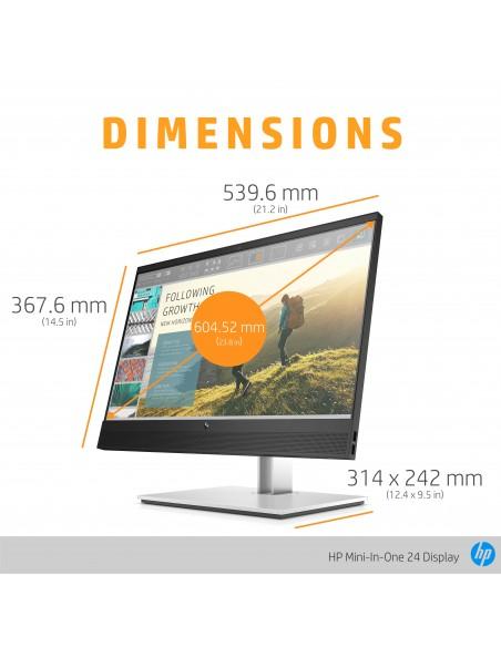 """HP Mini-in-One 24 60.5 cm (23.8"""") 1920 x 1080 pikseliä Full HD LED Musta Hp 7AX23AA#ABB - 13"""