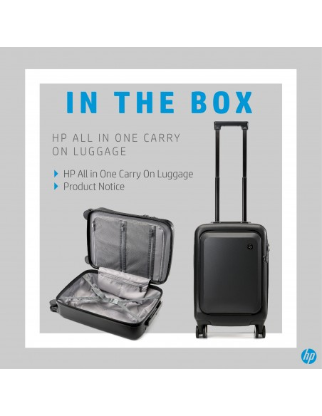 HP All in One Carry On Luggage Trolley Black Acrylonitrile butadiene styrene (ABS), Polycarbonate Hp 7ZE80AA - 7