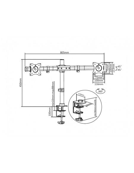 Multibrackets M Deskmount Basic Dual Multibrackets 7350073733309 - 19